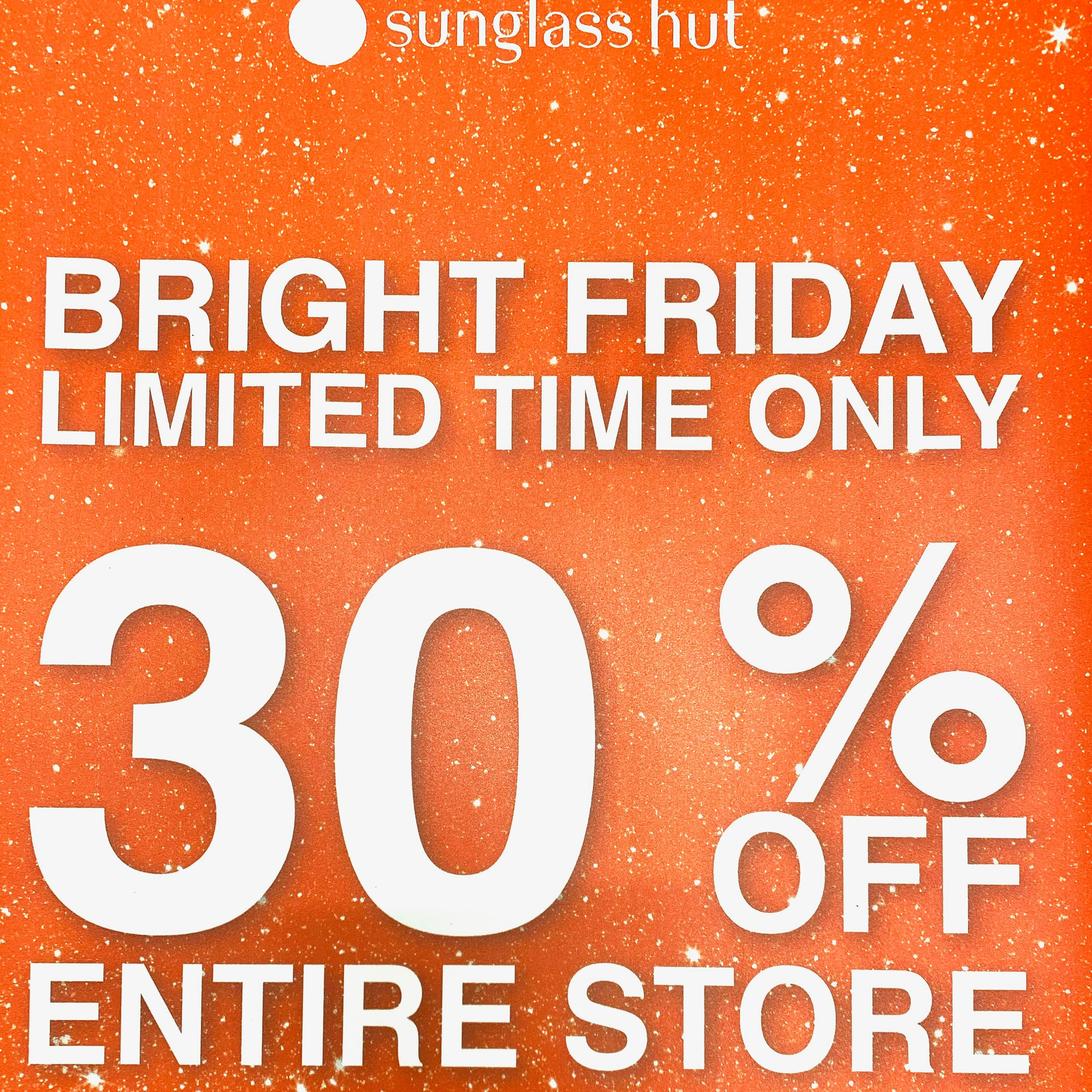 30% Off Entire Store from Sunglass Hut