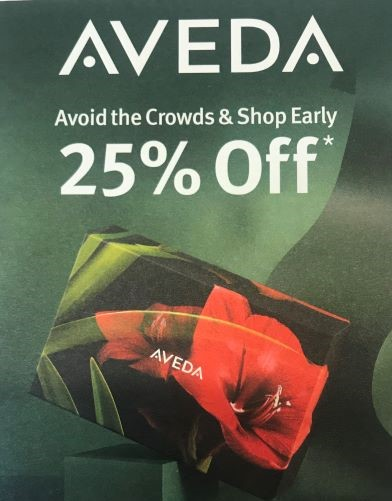 25% Off Everything, Excluding Gift Sets from Aveda