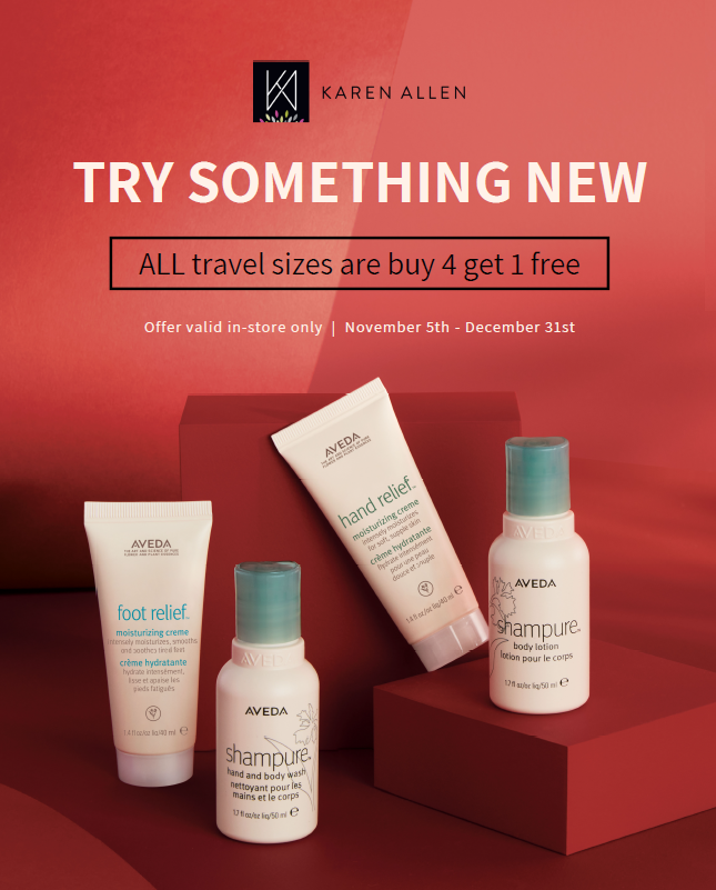 Karen Allen Travel Size Sale from Karen Allen Aveda Salon