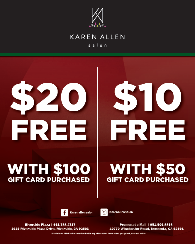 Gift Card Power Up from Karen Allen Aveda Salon