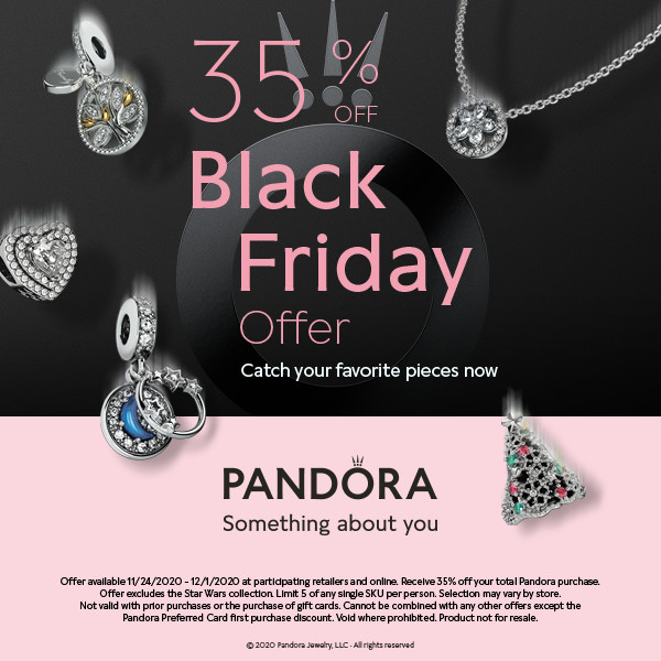 PANDORA 35% OFF BLACK FRIDAY OFFER