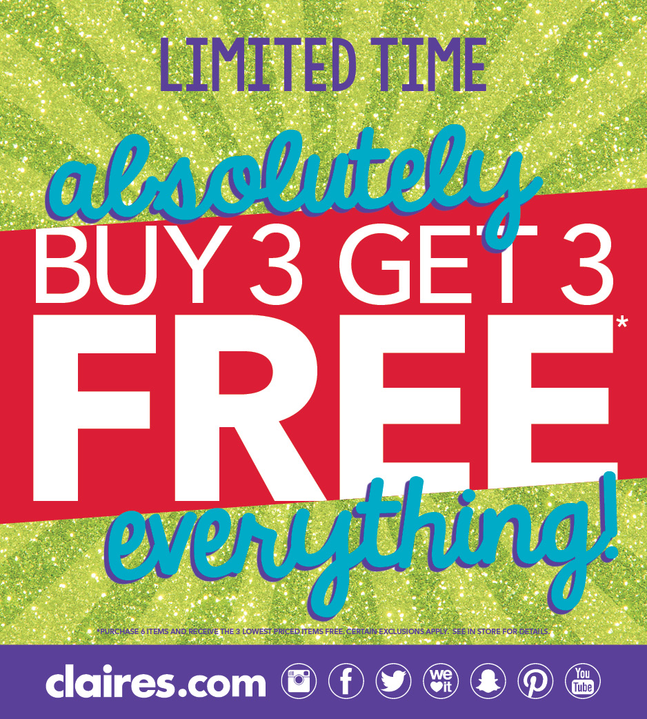 Entire Store, Absolutely Everything Buy 3 Get 3 Free!