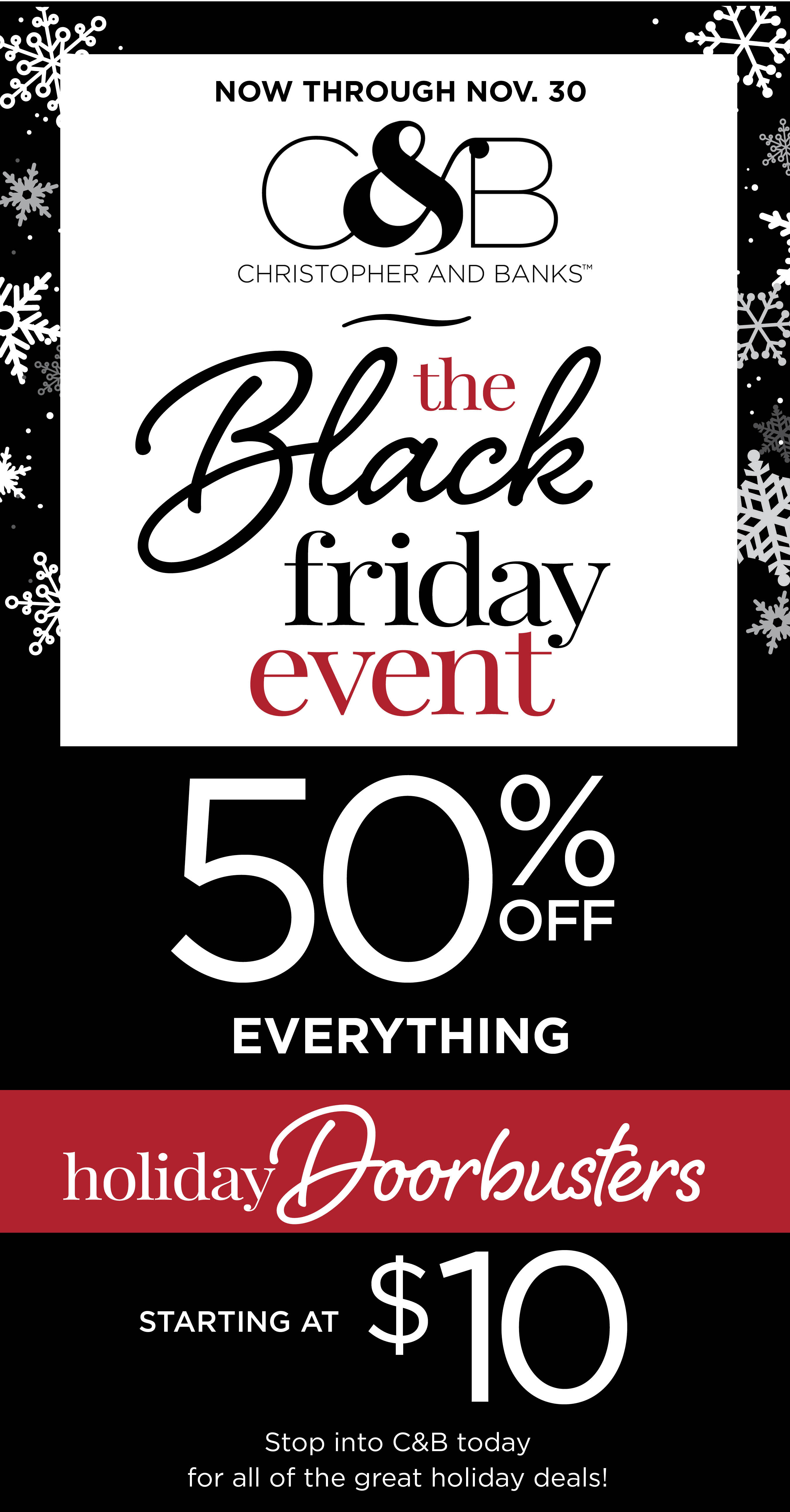 Black Friday Event from C&B Christopher and Banks