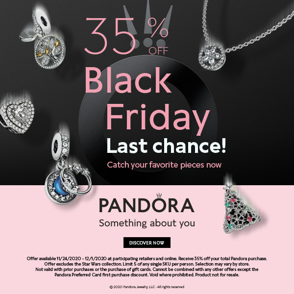 Last Chance for Black Friday from PANDORA Holiday Gift Bar