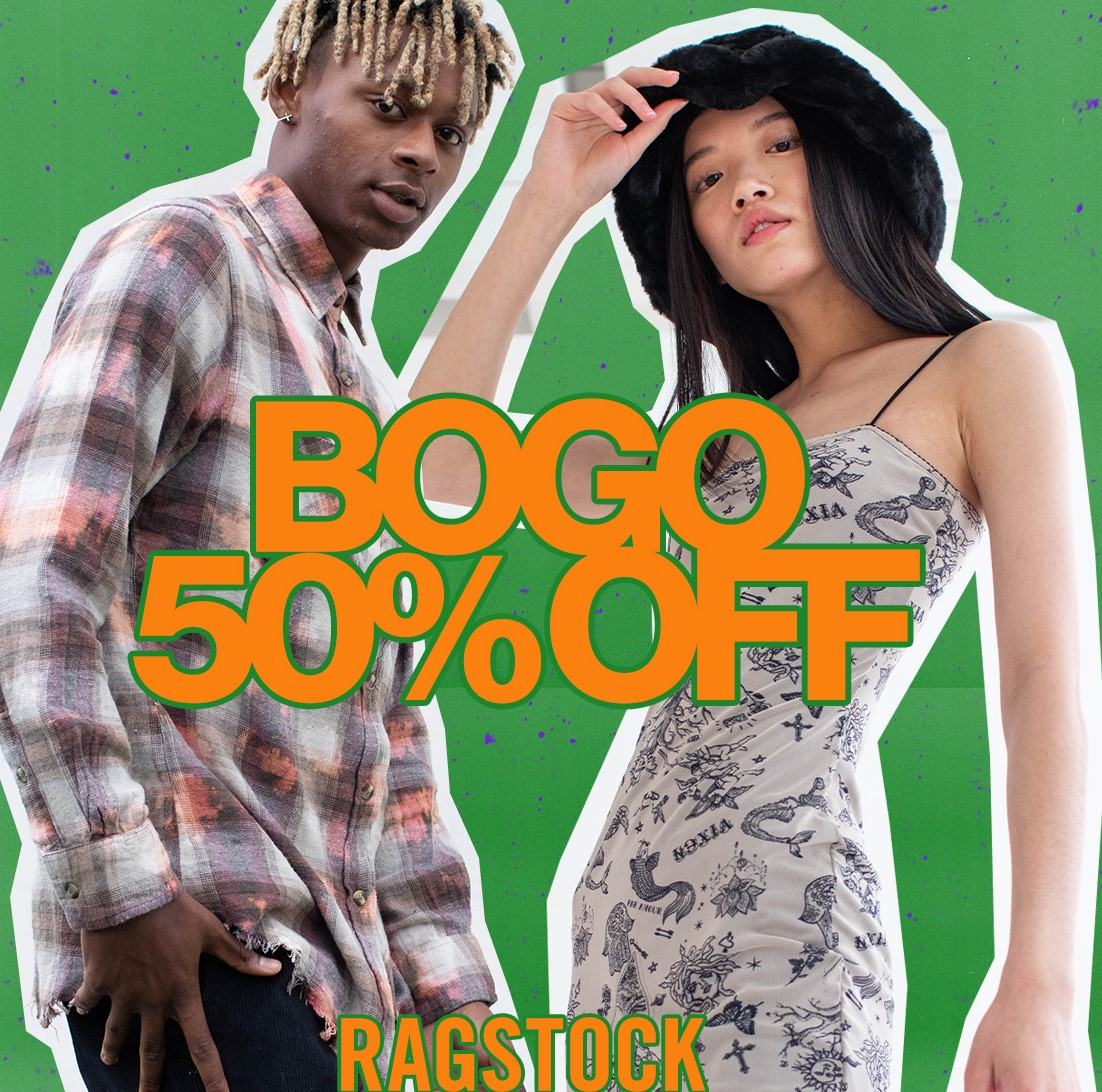 BOGO 50% Off Sale on All Regular Priced Items from Ragstock