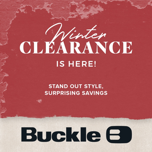 Winter Clearance is Here from Buckle