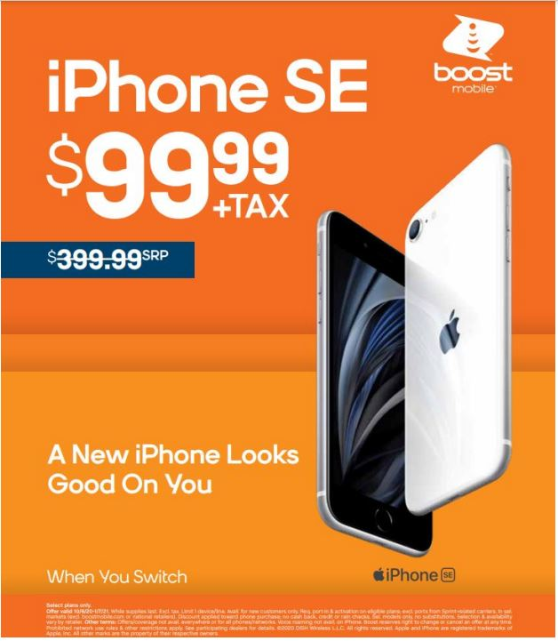 iPhone SE for $99.99 from Boost Mobile