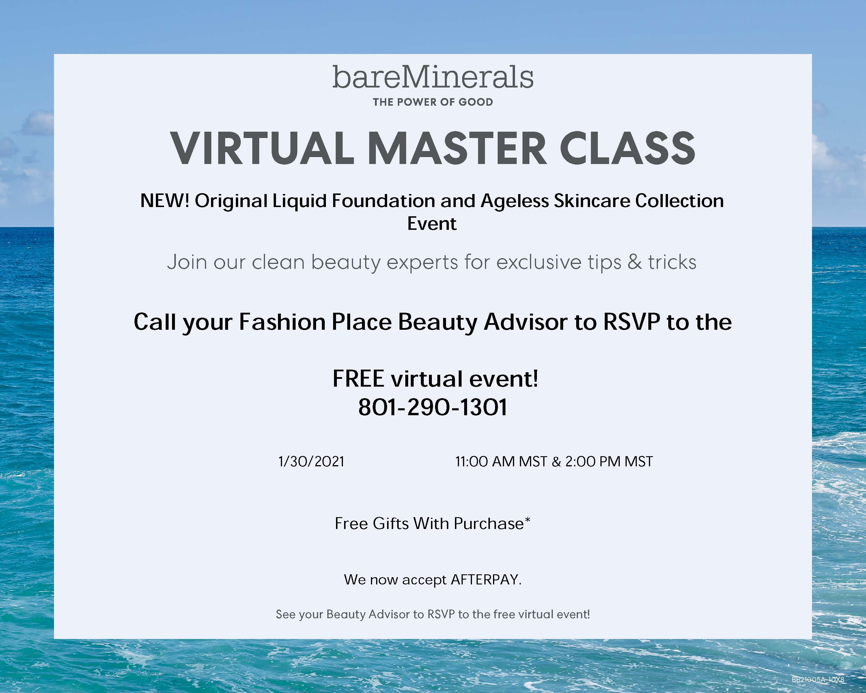 Virtual Master Class from bareMinerals