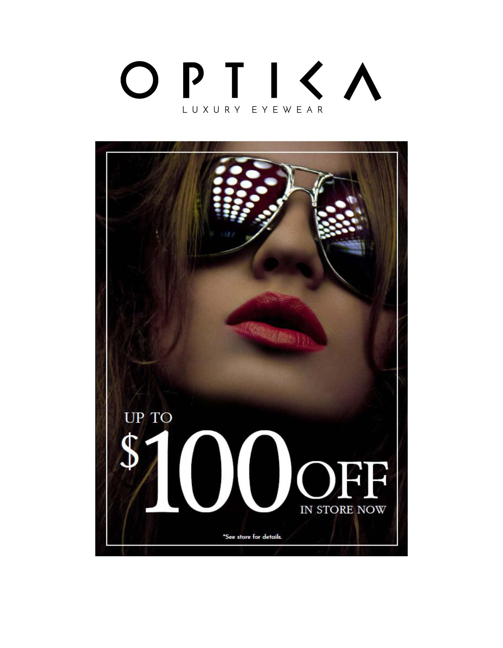 Up to $100 OFF from Optica