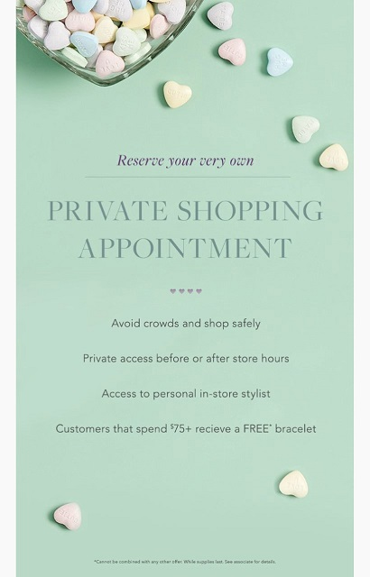 Private Shopping Appointment from ALEX AND ANI
