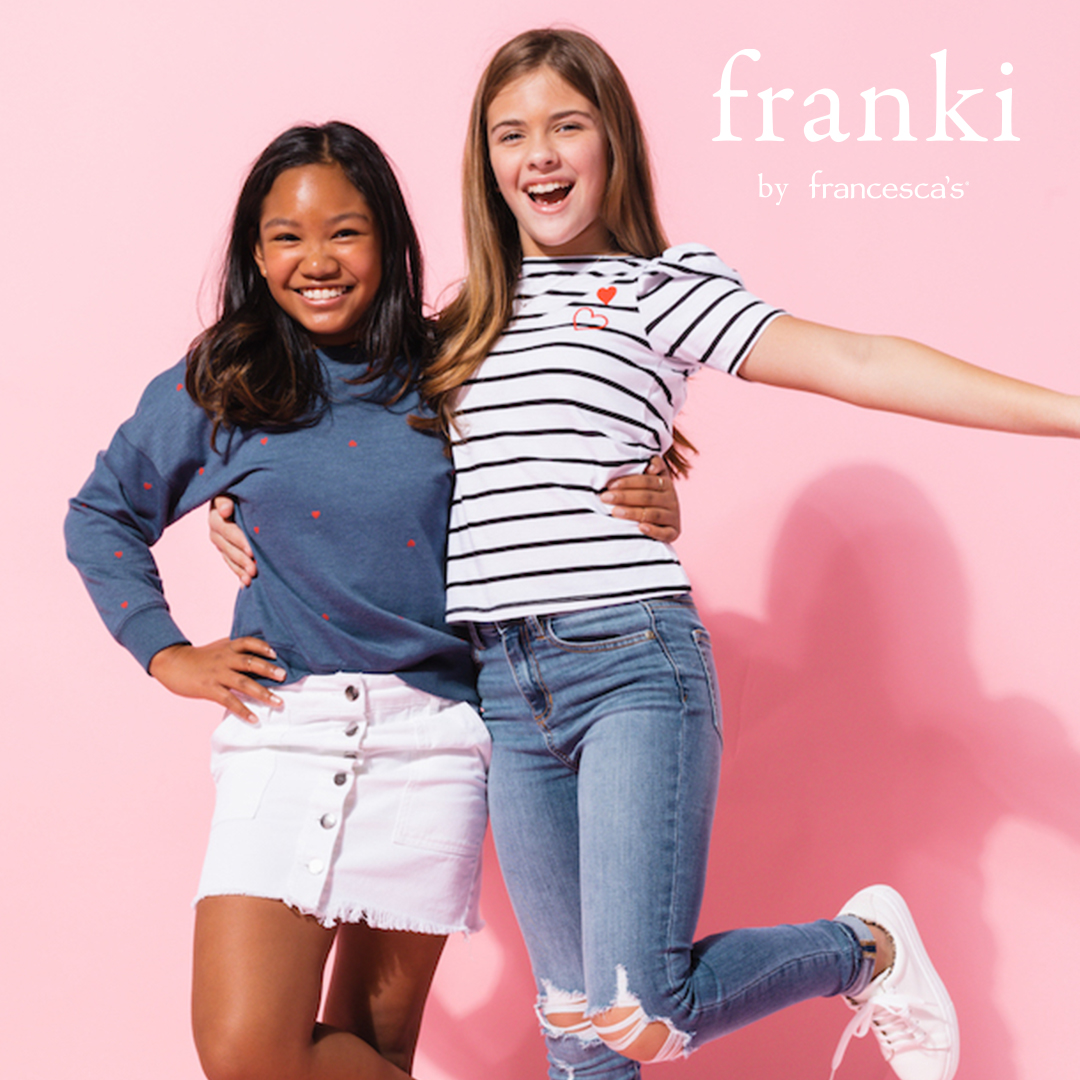 Introducing Franki NOW offered ALL for $25 from francesca's