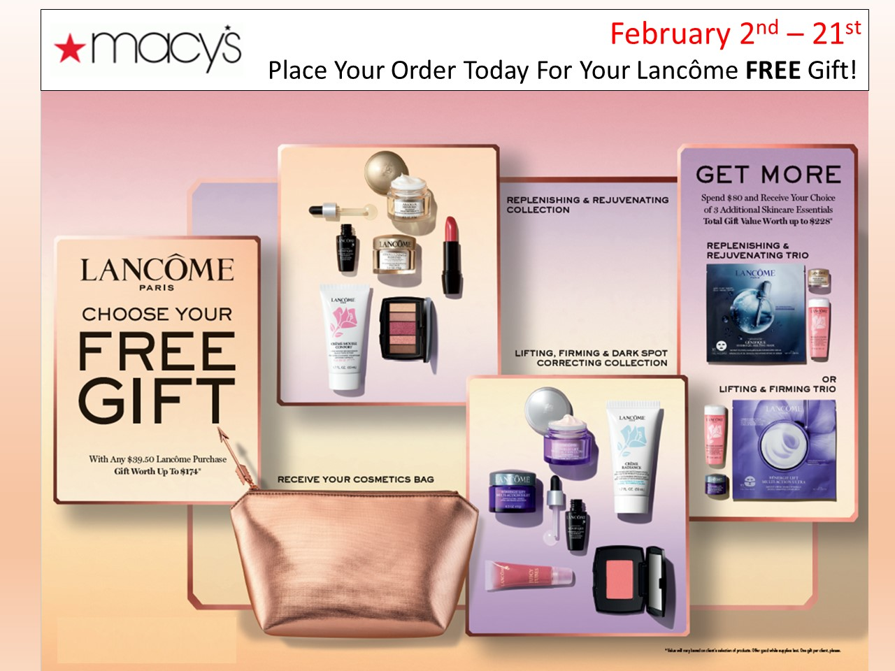 Choose your free gift from macy's