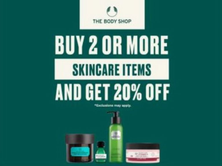 Buy 2 Get 20% off Skincare from The Body Shop