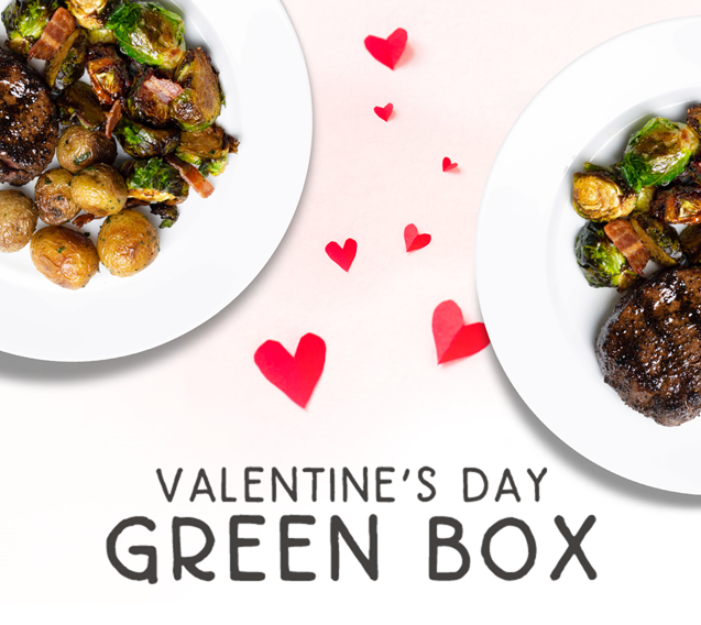 Valentine's Day Green Box