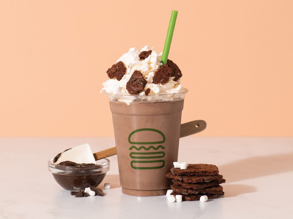 Brownie Batter Hot Cocoa Shake from Shake Shack