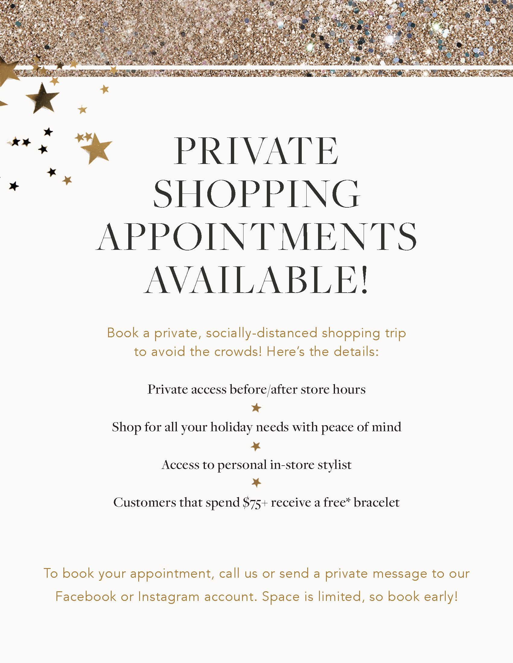 Private Shopping Appointments from ALEX AND ANI