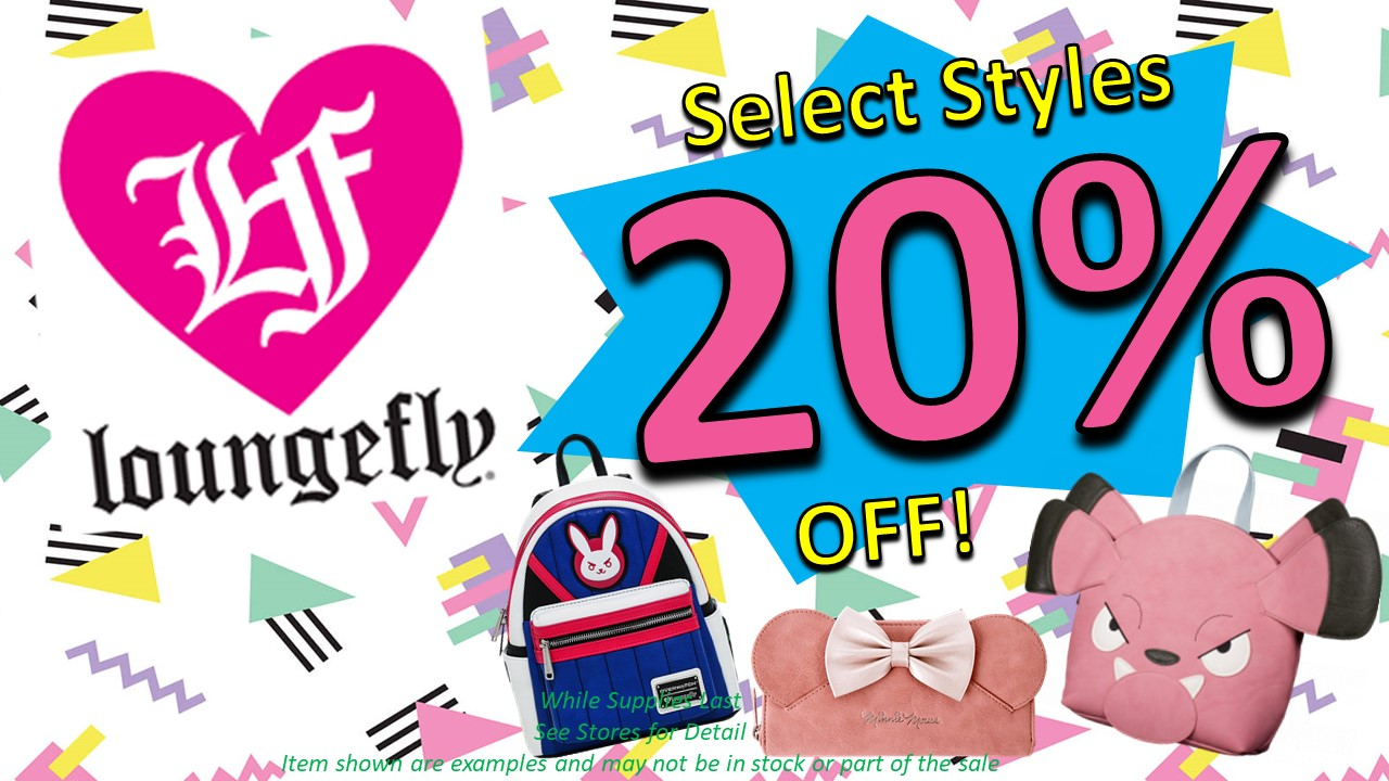 Loungefly 20% off! from Optimus Toys