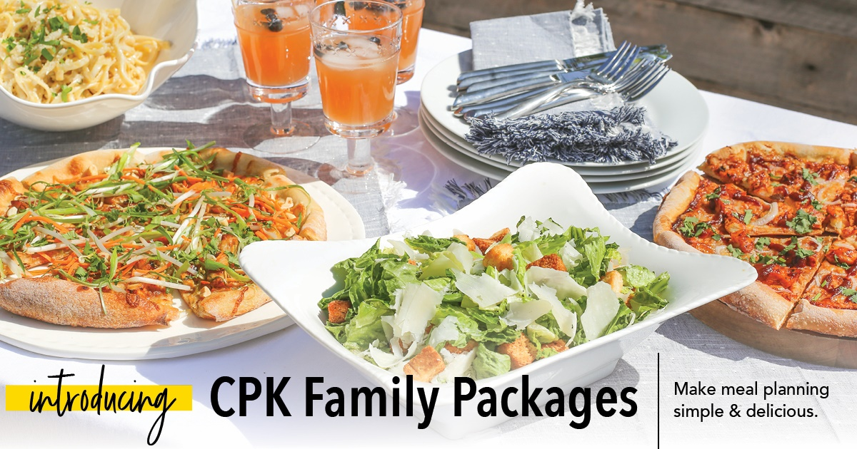 Family Meal Packages are Back! from California Pizza Kitchen
