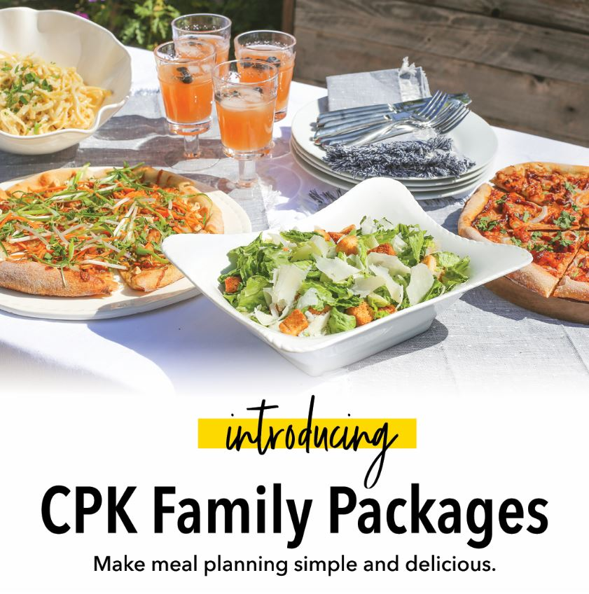 Family Meal Packages are Back from California Pizza Kitchen