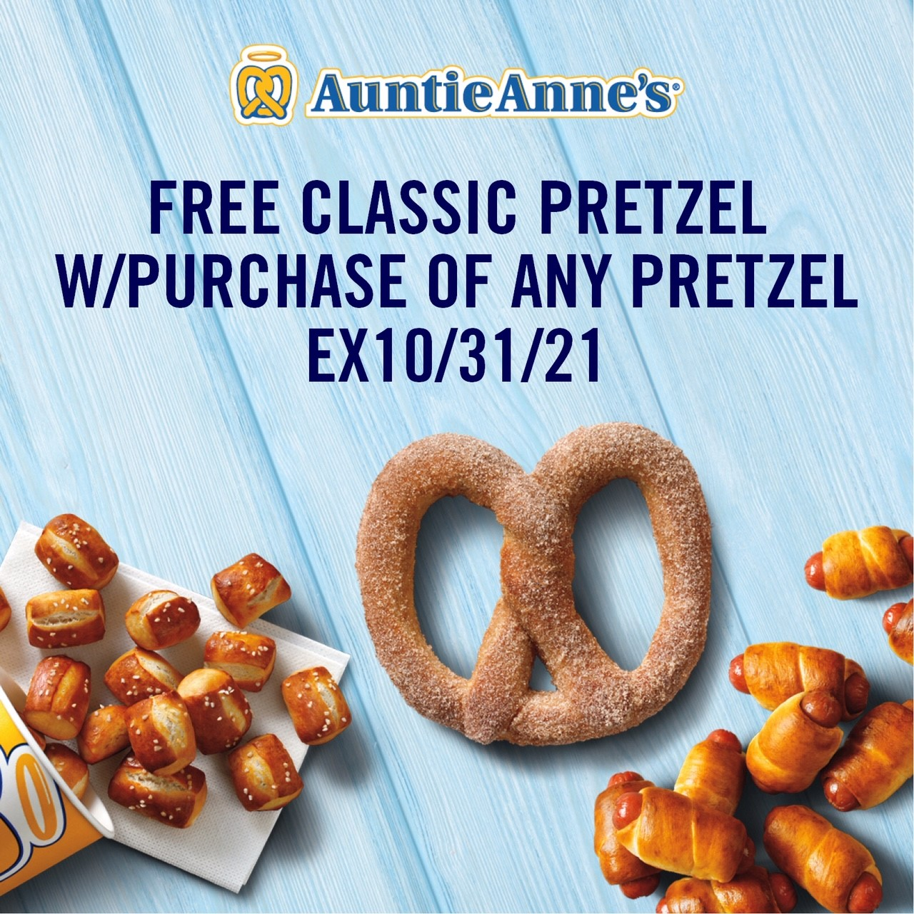FREE Classic Pretzel! from Auntie Anne's