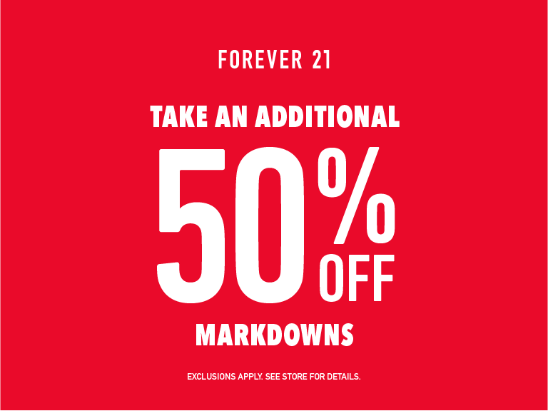 Additional 50% Off Markdowns!