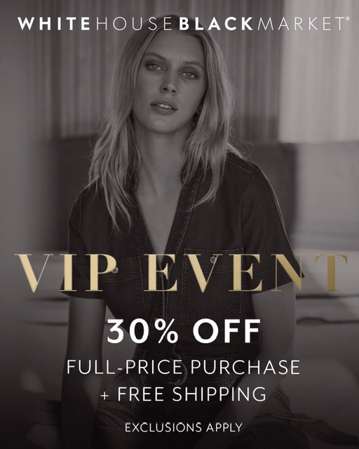 VIP Event from White House Black Market