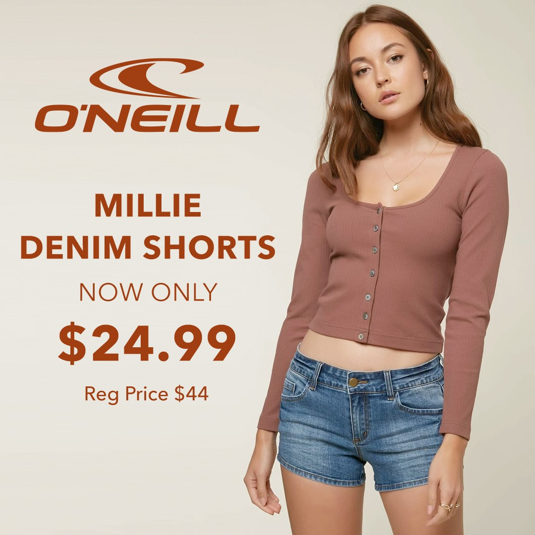 O'Neill Millie Denim Shorts from Hic Surf
