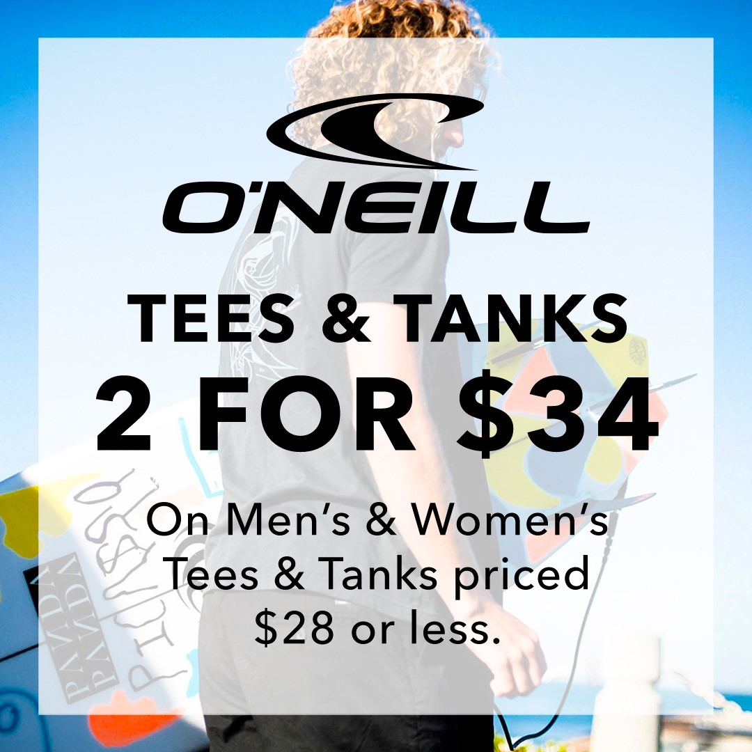 O'Neill Tees and Tanks from Hic Surf