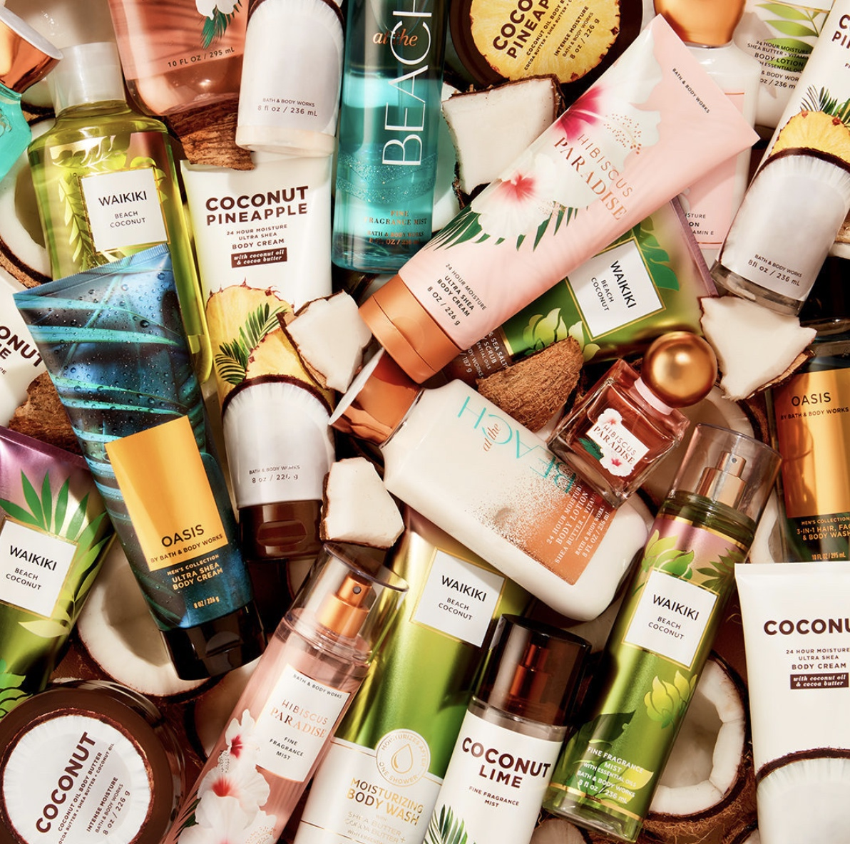 Fresh NEW coconuts are HERE! from Bath & Body Works