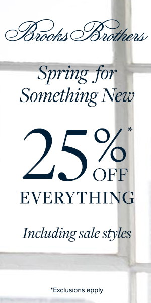25% Off from Brooks Brothers
