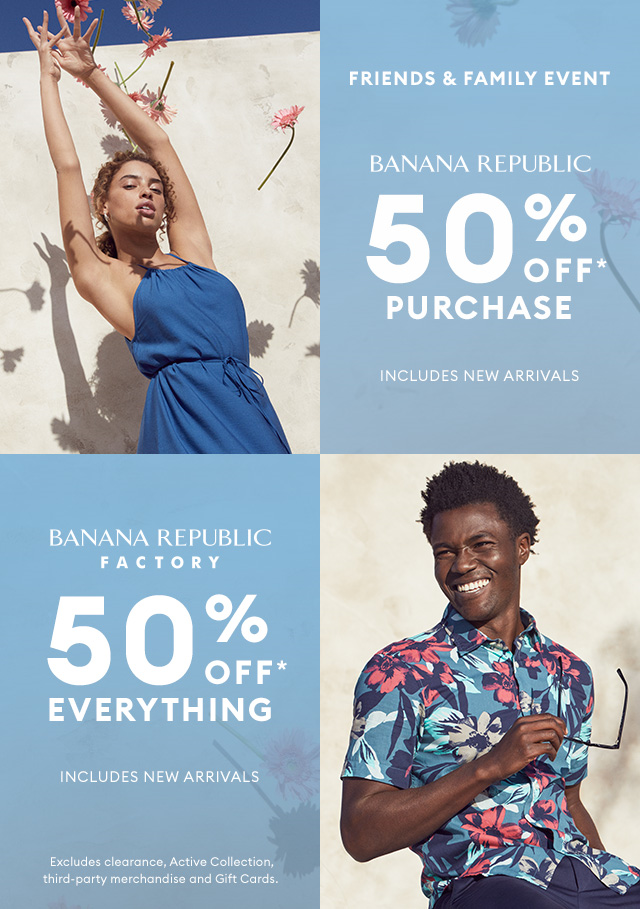 Friends & Family Event from Banana Republic
