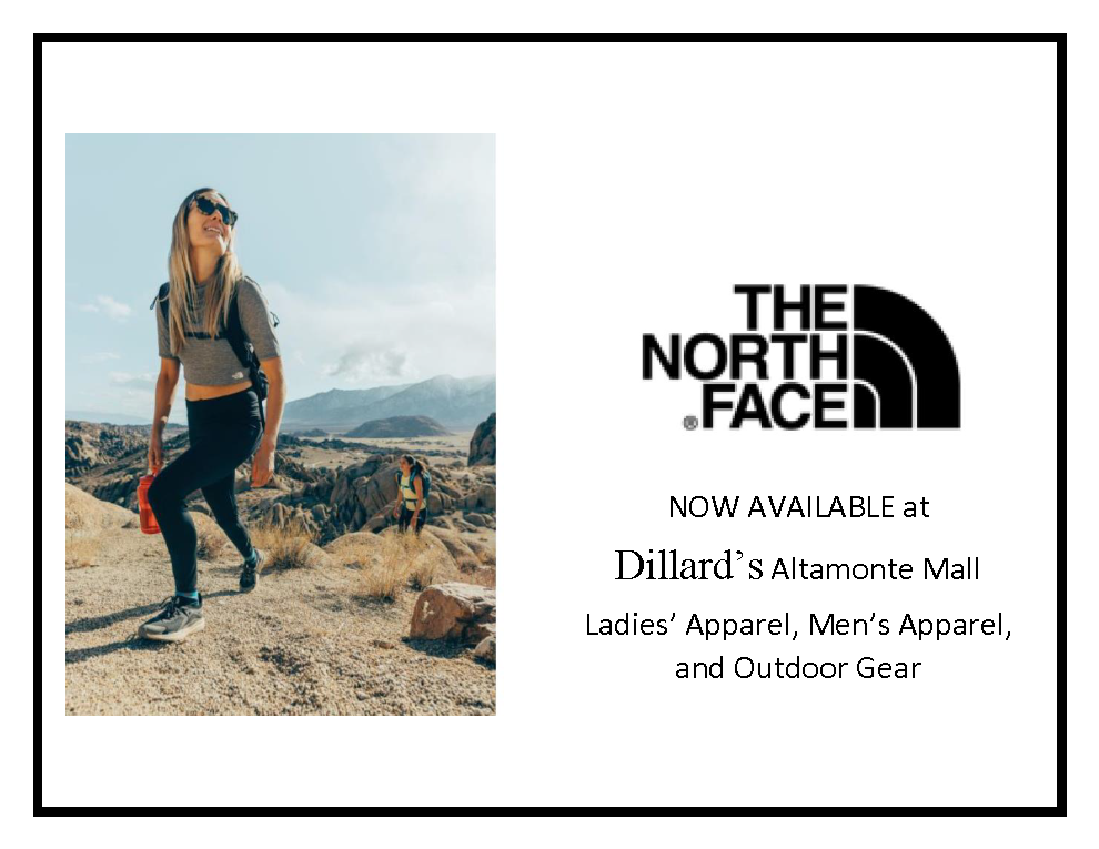 North Face now Available from Dillard's