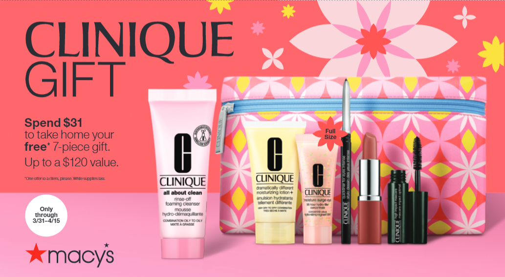 Clinique Free Gift With Purchase from macy's