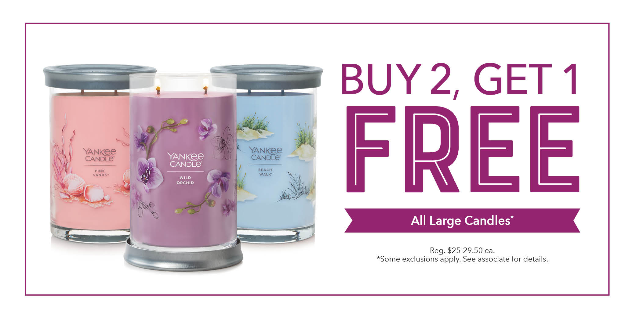 Yankee Candle - BUY 2 GET 1 FREE ALL LARGE CANDLES! from Yankee Candle
