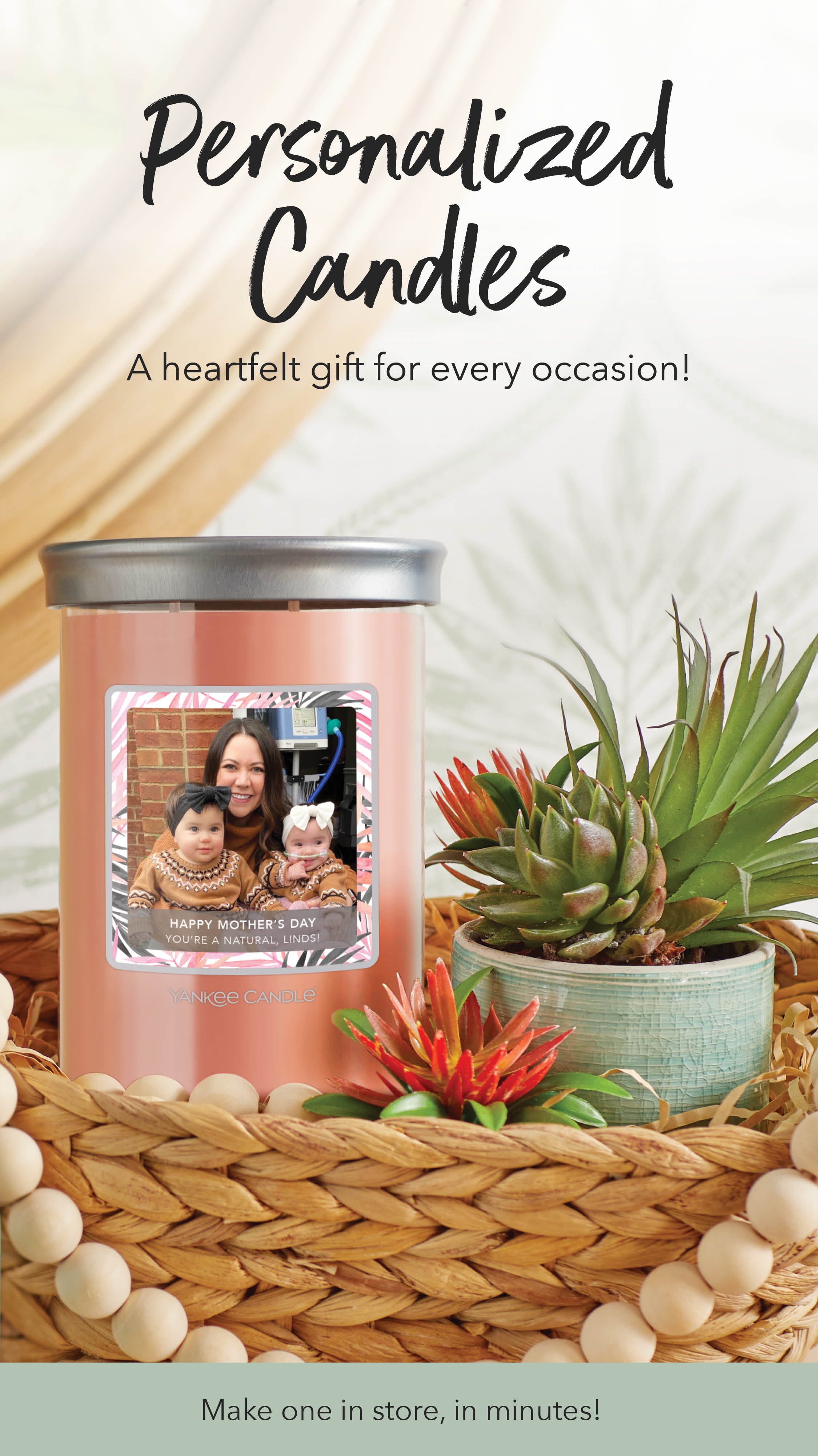 Yankee Candle - Personalized Candle - Perfect gift for mom! from Yankee Candle
