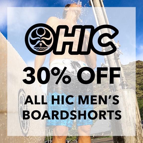 30% Off All HIC Boardshorts from Hawaiian Island Creations