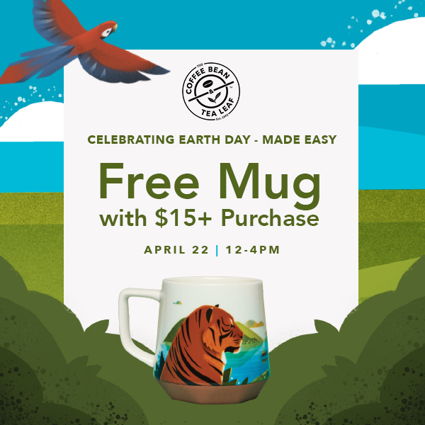 Free Sumatra Roaster Series mug with minimum $15 purchase! from The Coffee Bean & Tea Leaf