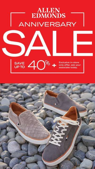 Anniversary Sale from Allen Edmonds