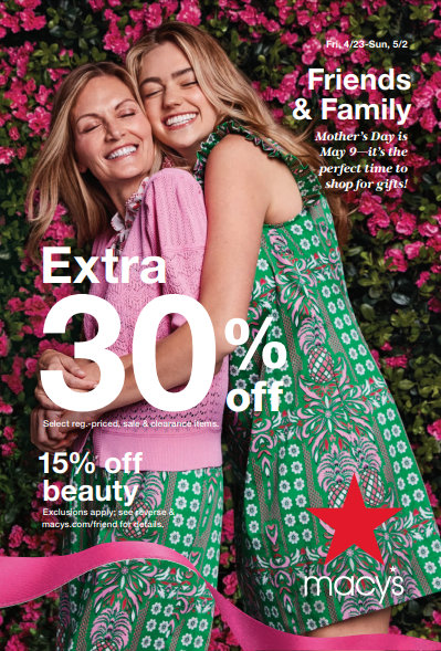 Macy's Friends & Family Event from macy's