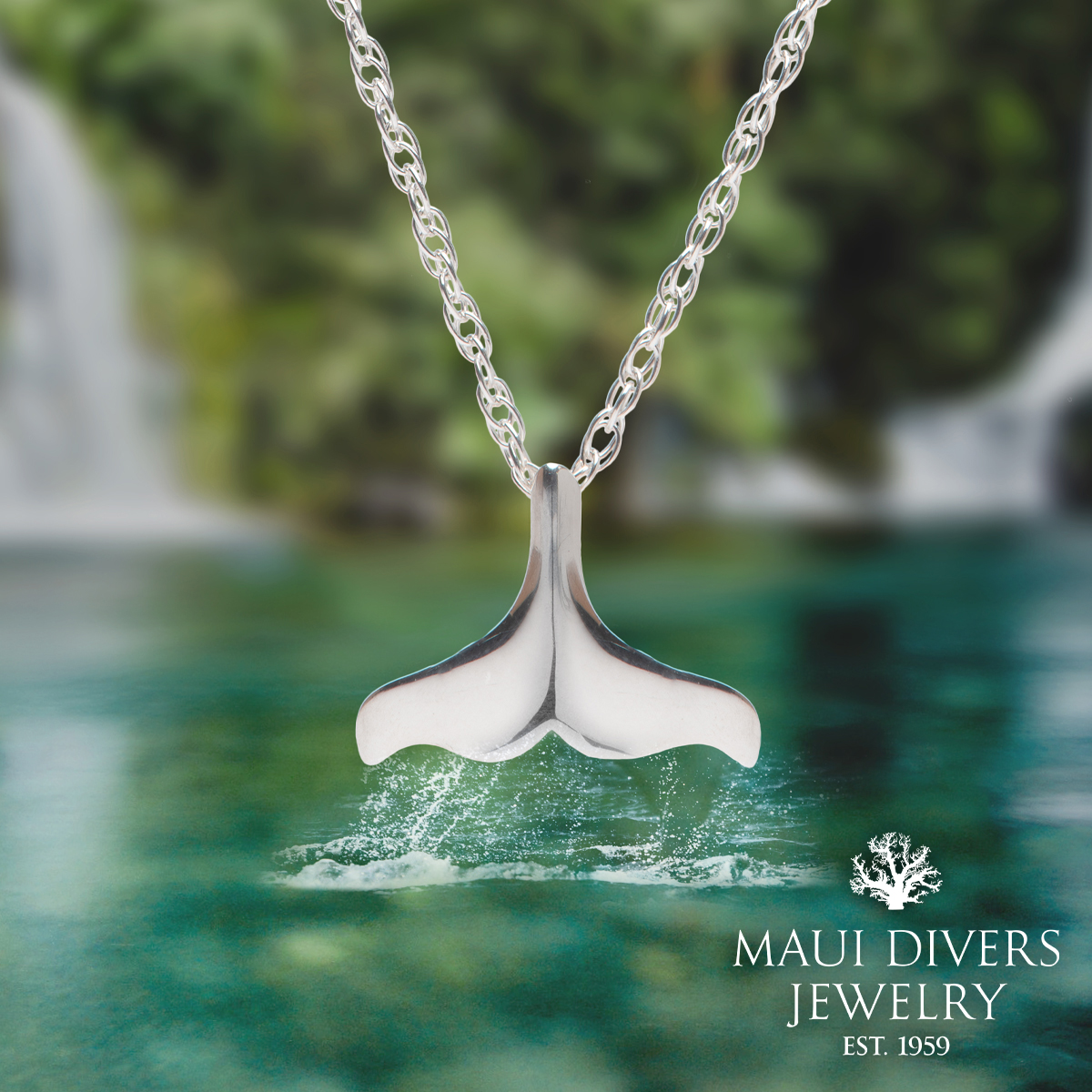 Free Whale Tail Necklace from Maui Divers Jewelry