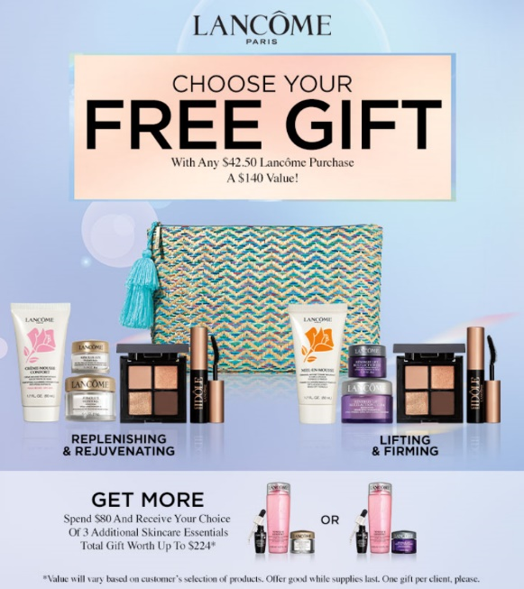 Free Lancôme Gift with Purchase from macy's