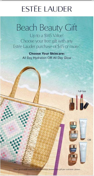 ESTĒE LAUDER Beach Beauty Gift from Dillard's