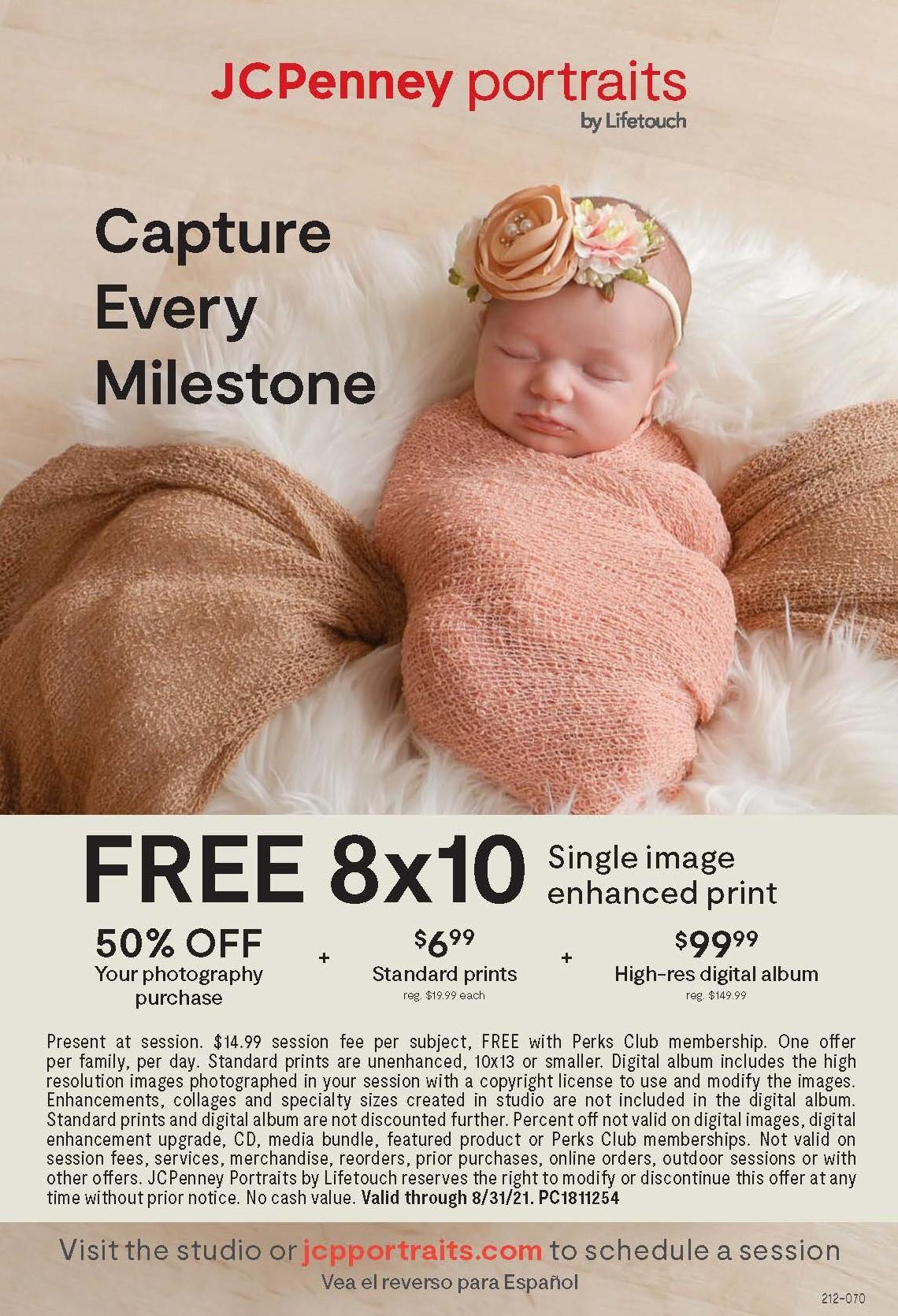 Free 8x10 Single Image