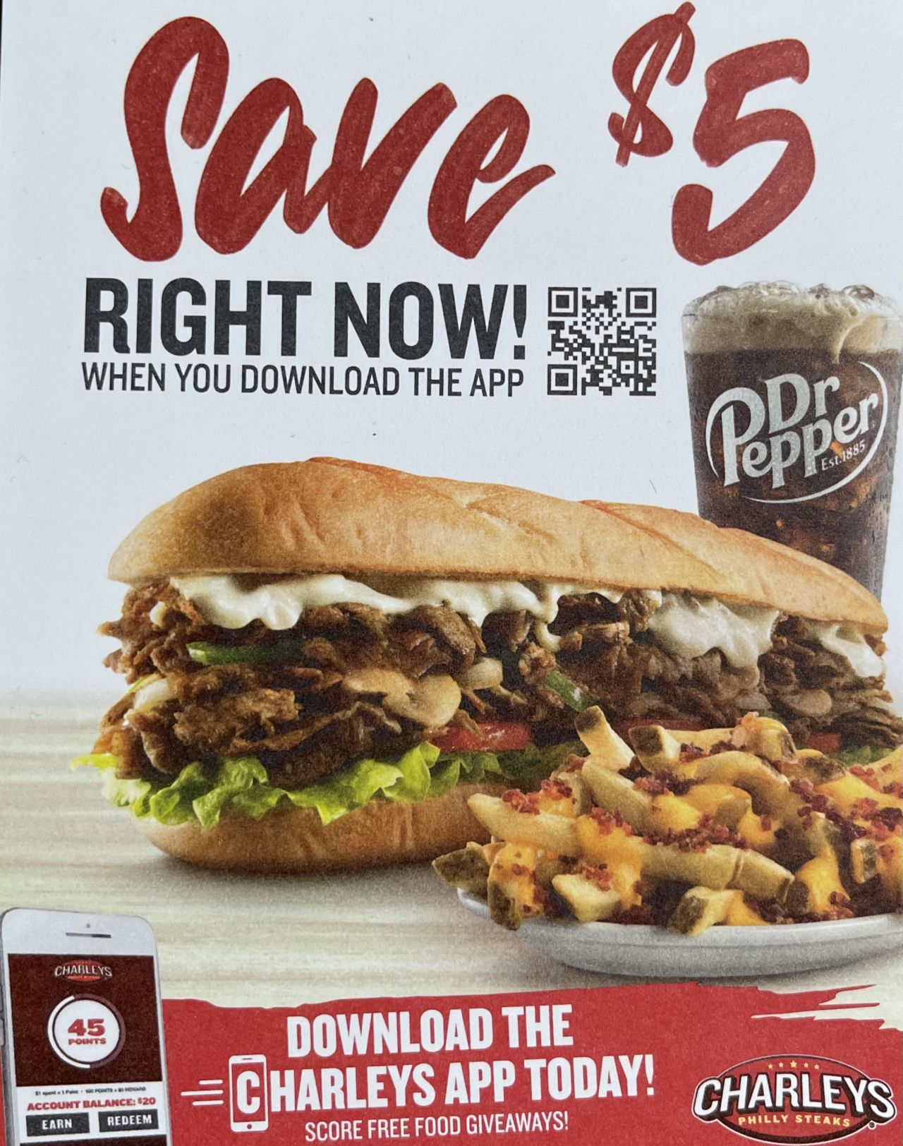 $5.00 Off First Order New Charley's App