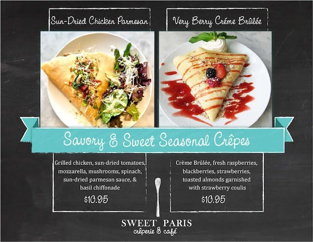 Creps of the Month from Sweet Paris Creperie & Cafe