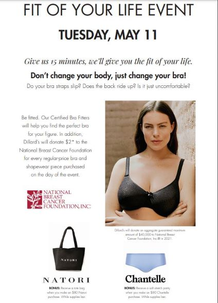 FIT OF YOUR LIFE EVENT from Dillard's