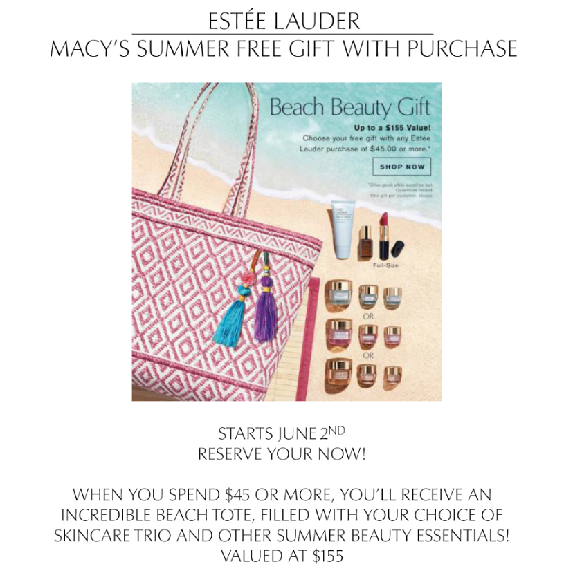 Summer Gift With Purchase from macy's