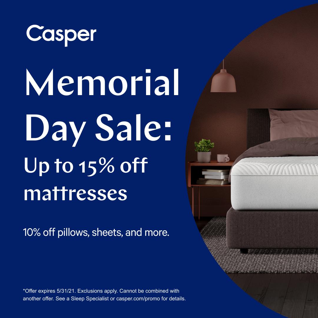 Casper Memorial Day Sale from Casper