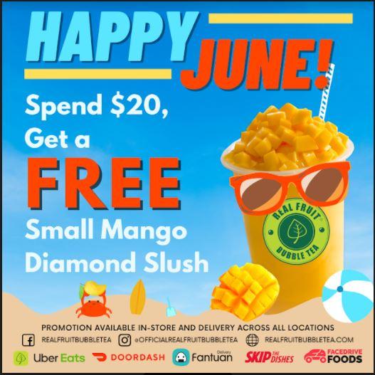 Mango Diamond Slush Promo! from Real Fruit Bubble Tea