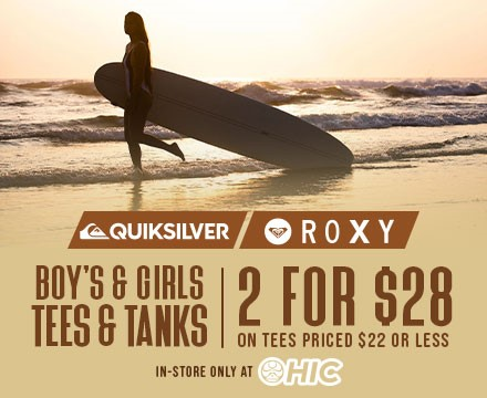 2 for $28 Quiksilver & Roxy Kid's Tees from Hic Surf